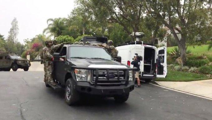 Armed SWAT at Jake Paul mansion