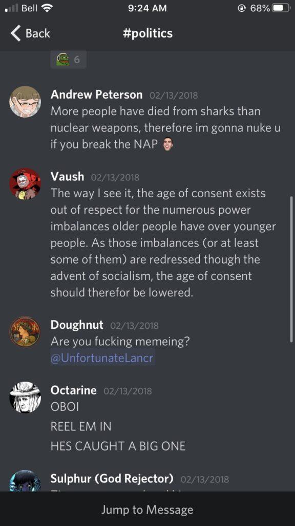 VaushV age of consent