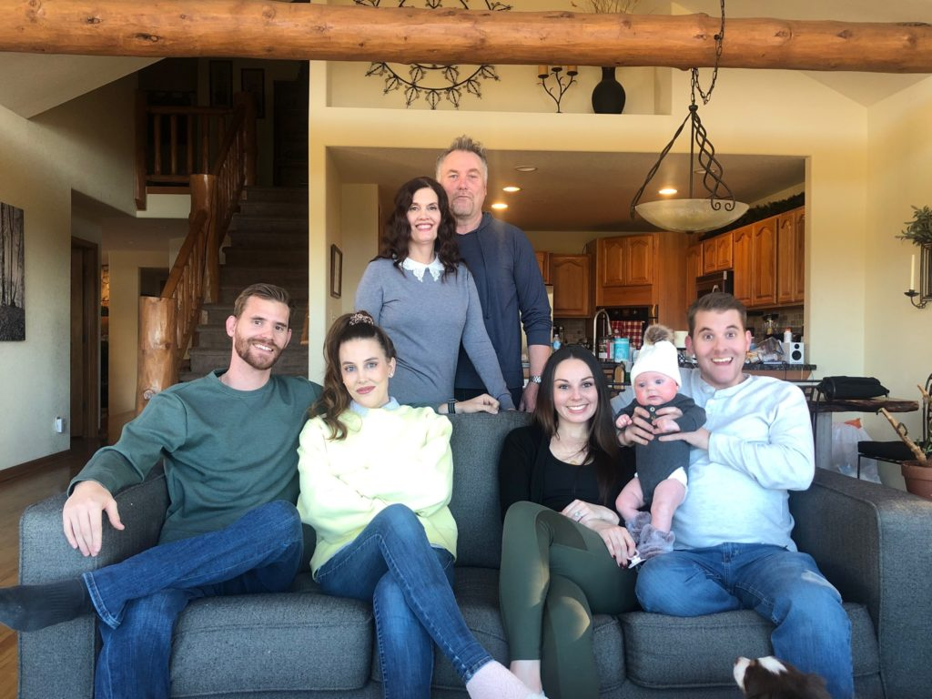 The Campbell family celebrate Christmas