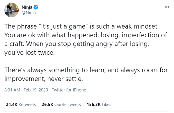 ninja tweet