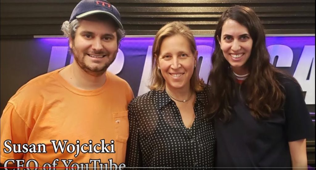 Ethan and Hila Klein with YouTube CEO Susan Wojcicki